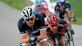 Fabian Cancellara (vorne) bleibt Leader der Luxemburg-Rundfahrt.