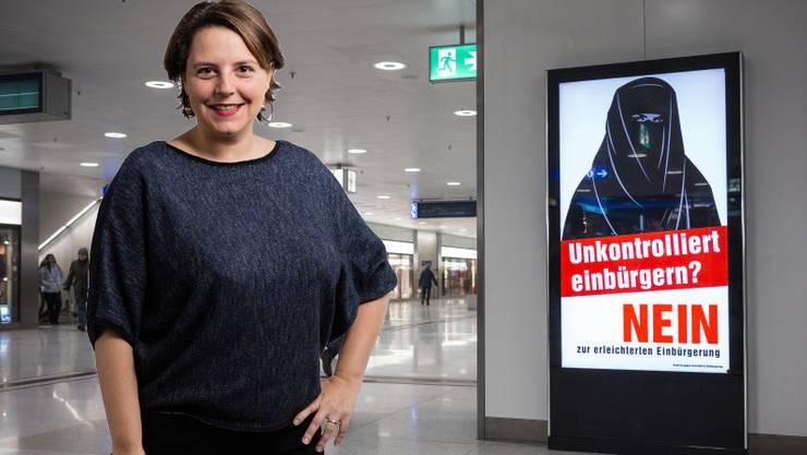 SP-Nationalrätin Ada Marra findet SVP-Plakat «absurd».