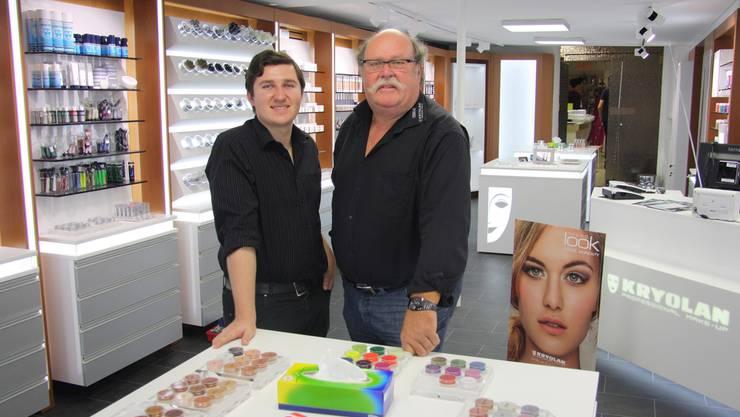 Silvio und Heinz Egger haben den Fasnachtsladen Haefeli an der Schaalgasse übernommen und als Kryolan City Shop eingerichtet.