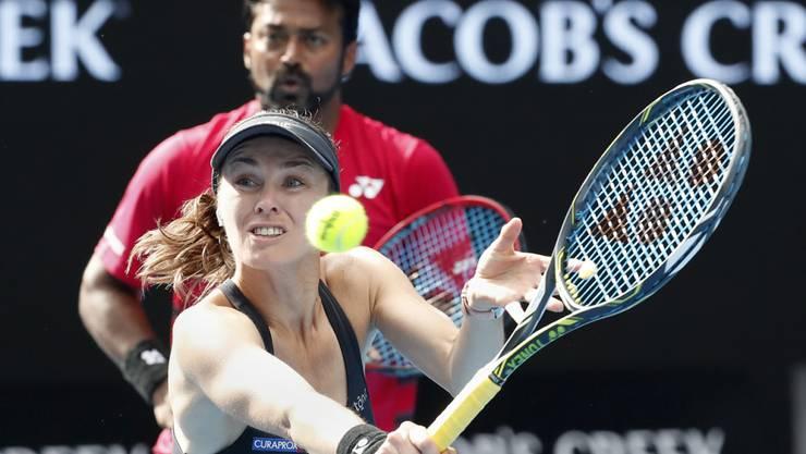 Im Viertelfinal bezwungen: Martina HIngis und Leander Paes