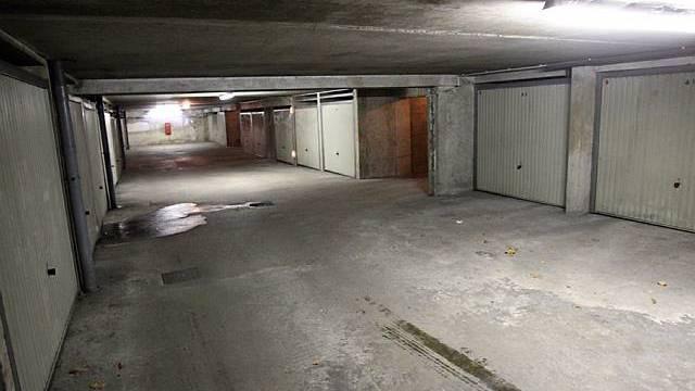 In dieser Garage wurde das Geld gefunden