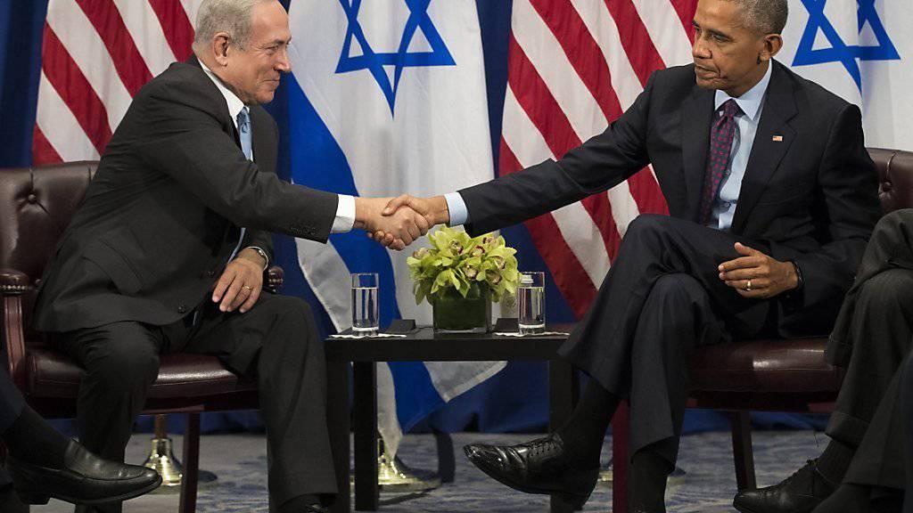 Benjamin Netanjahu (l) und Barack Obama bei ihrem Treffen in New York