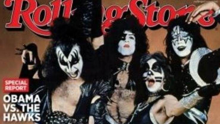 Kiss auf dem Cover des Rolling Stone-Magazins.