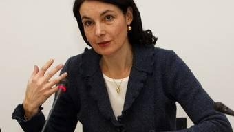 Die Tessiner Finanzdirektorin Laura Sadis vor den Medien (Archiv)