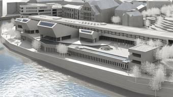 So soll das geplante Botta-Bad aussehen