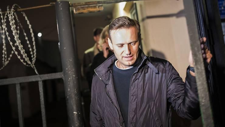Alexej Nawalny kommt am Freitagabend wieder frei, muss sich aber am Montag dem Richter stellen