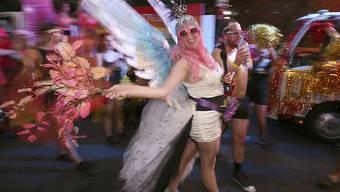 Gute Stimmung am Mardi Gras in Sydney.