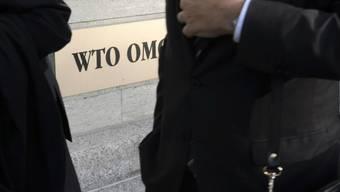 WTO-Delegierte bei ihrer Ankunft am Hauptsitz in Genf