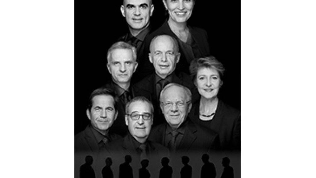 Das neue Bundesratsfoto 2017 (hier im Original) macht von sich reden.