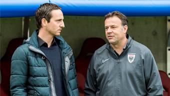 Sportchef Sandro Burki (links) und Trainer Patrick Rahmen sind über das Berufliche hinaus auch freundschaftlich miteinander verbunden.