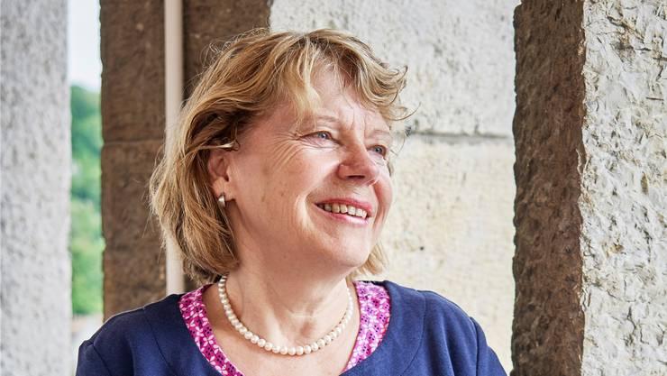 Barbara Iten schwärmt von der Aussicht, die sie vom Turm des Schulhauses Stapfer auf den Bruggerberg hat. Colin Frei