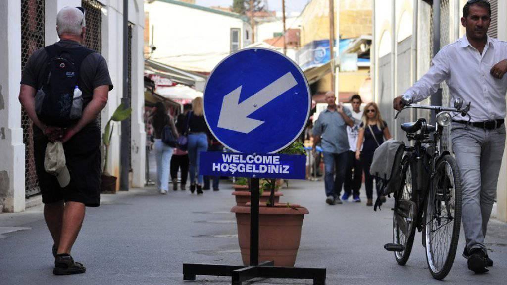 Die Ledra-Strasse unweit der UNO-Pufferzone in Nikosia ist das Symbol für die Teilung der Insel.