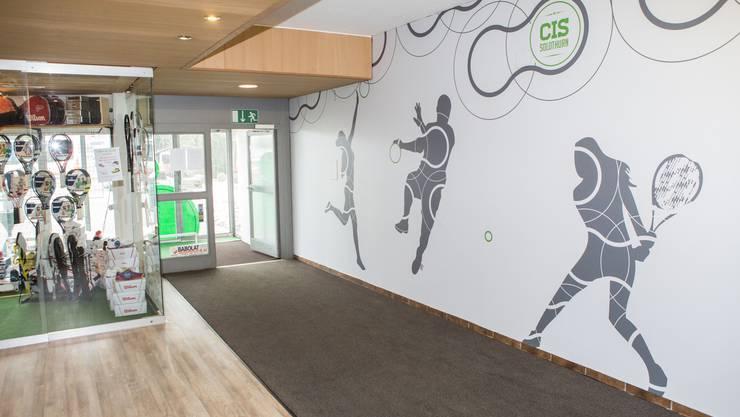 Blick auf den erneuerten Eingangsbereich