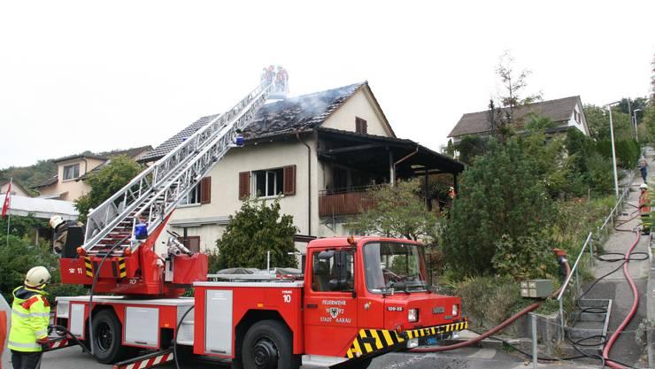 Die Feuerwehr konnte den Brand in Biberstein löschen