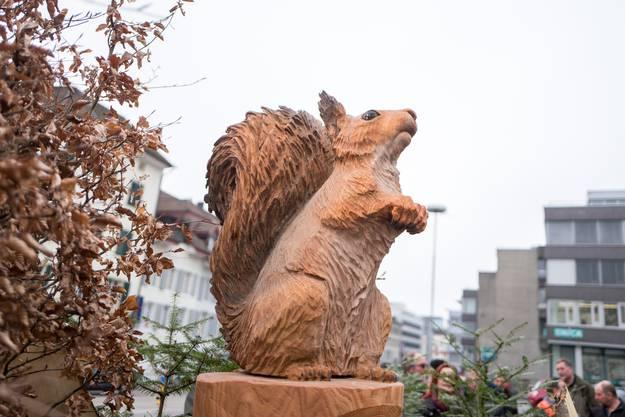 Das Maskottchen der Initianten: Eichhörnchen Sämi.