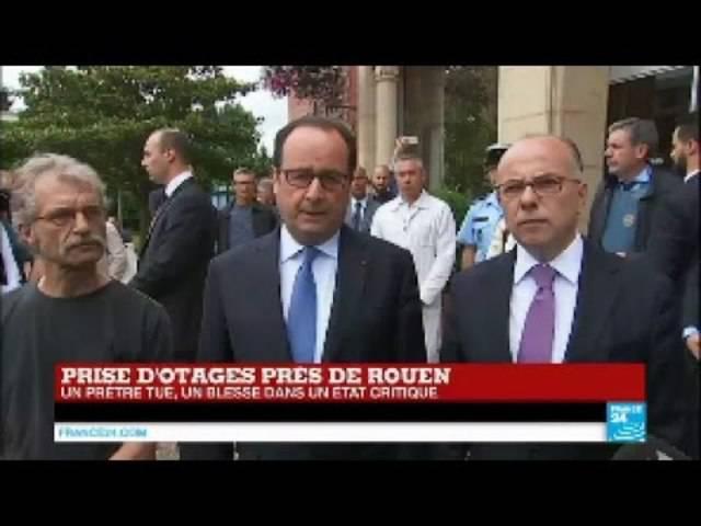 Präsident François Hollande in Saint-Étienne-du-Rouvray