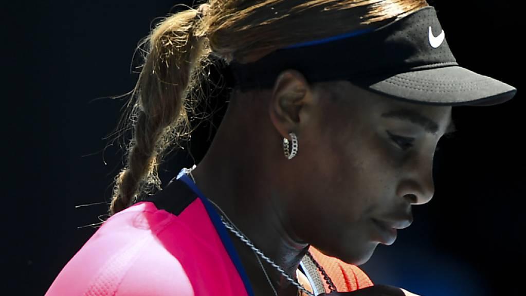 Serena Williams ging die ersten Aufgaben in Melbourne äusserst konzentriert an.