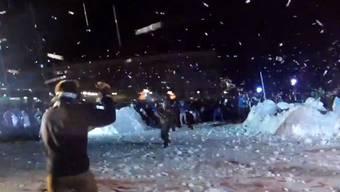 Diese Schneeballschlacht ist Weltrekord