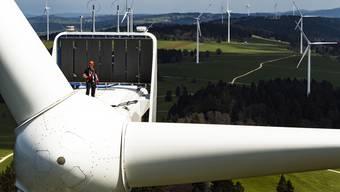 Windpark auf dem Mont-Soleil in Saint-Imier