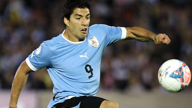 Luis Suarez erzielte in bisher 76 Spielen 39 Tore für Uruguay
