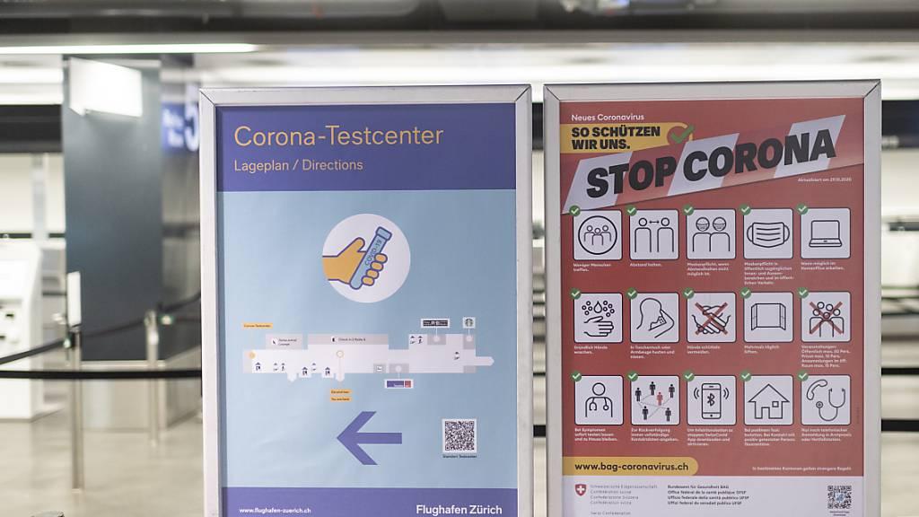 Die Swissport-Tochter Checkport und das Berner Schnelltest-Unternehmen Ender Diagnostics weiten ihr Corona-Testangebot am Flughafen Zürich aus. Ab dem 1. März bieten sie auch Antigen-Tests an. (Archivbild)