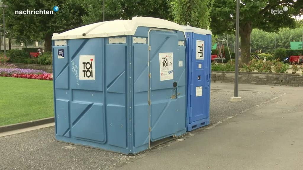 Versuch mit behindertengerechten öffentlichen WC