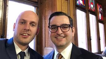 Das Selfie von Joël Thüring und Luca Urgese.