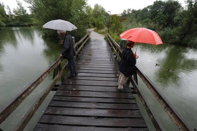 Trotz Regen laufen die Vorbereitungen gut.