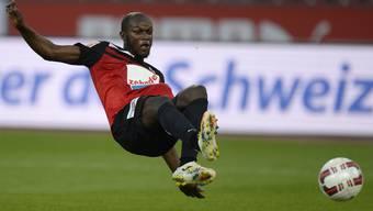 Igor Nganga in Aktion für den FC Aarau