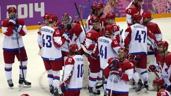 Lange Gesichter: Die Russen verlieren gegen die Finnen.
