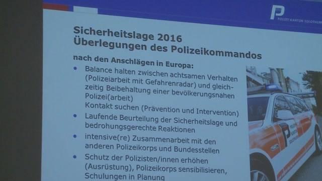 Solothurn wappnet sich gegen Anschläge