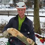 Alle Hände voll zu tun: Baumpfleger Lukas Kauffungen.