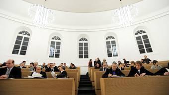 Einwohnerrat Aarau. Am 18. Januar 2010 im Grossratsaal Aarau.