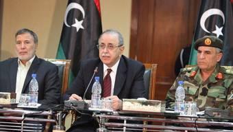 Vertreter der libyschen Regierung bei einer Konferenz in Tripolis