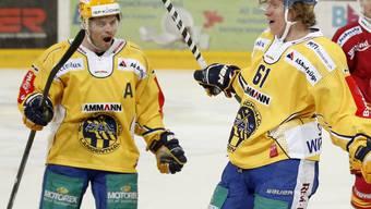 Langenthals Eishockeyaner im Torjubel