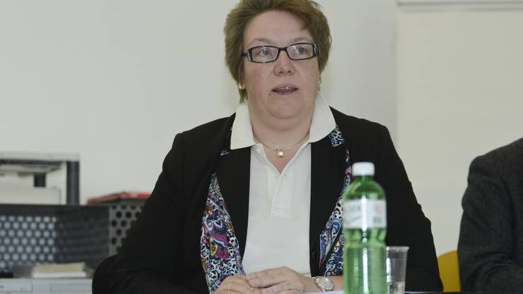 Barbara Hamm-Schulte bei einer Medienorientierung Ende November 2012.