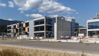 Die Profile zeigen die neue Gebäudehöhe der Fabrik, welche jetzt CSL Behring Lengnau AG heisst.