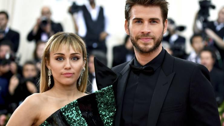 Gehen getrennte Wege: Popstar Miley Cyrus und Noch-Ehemann Liam Hemsworth. (Archivbild)