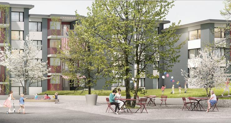 Mit viel Grün und genug Platz zum verweilen, soll das Gebiet für die Bewohner attraktiv gestaltet werden.
