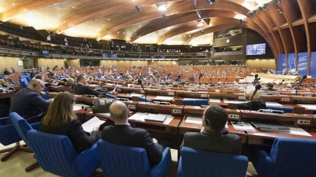 Plenarsaal des Europarats in Strassburg