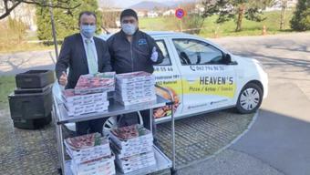 Bereits zweimal spendete der Rothrister Pizzalieferdienst Heaven's Pizza.