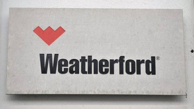 Wird bald abgeschraubt: Weatherford-Firmenschild (Archiv)