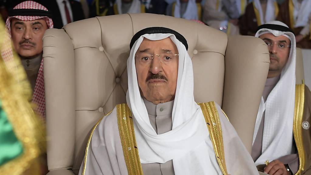 Gesundheitliche Probleme: der 90-jährige Emir von Kuwait, Scheich Sabah al-Ahmad al-Sabah. (Archivbild)