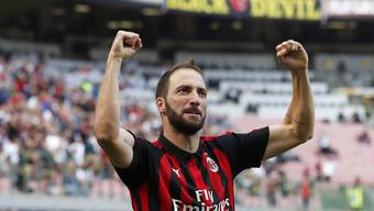 Gonzalo Higuain führte die AC Milan mit einer Doublette zum Sieg gegen Chievo Verona