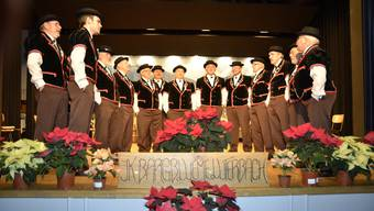 Die kleine Jodlergruppe brachte einen bunten Strauss an Jodelliedern zum Besten.