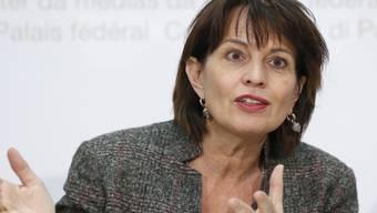 Der Bundesrat lässt den EU-Entscheid zur Börsenregulierung nicht auf sich sitzen. Als Reaktion kündigt Bundespräsidentin Doris Leuthard an, dass der Börsen- und Finanzplatz gestärkt werden soll. (Archivbild)