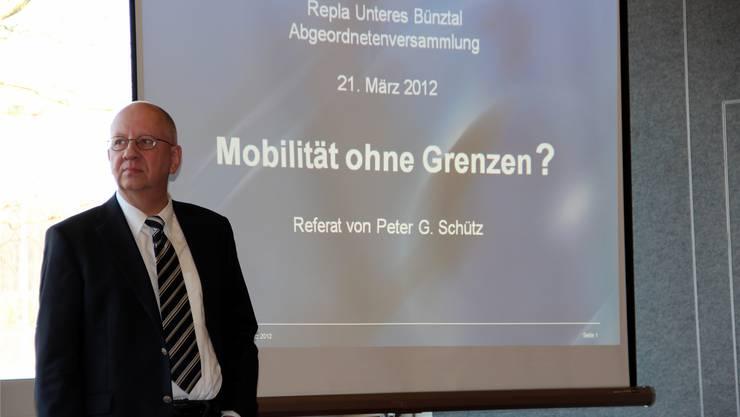 Peter G. Schütz ist überzeugt, dass die Verkehrskapazitätsgrenzen im Aargau erreicht sind.