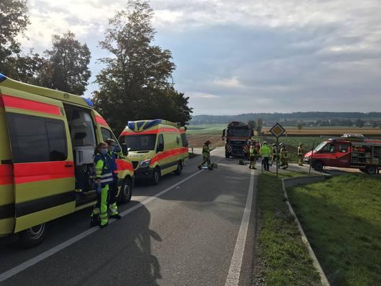 Zwei Ambulanzen wurden aufgeboten.
