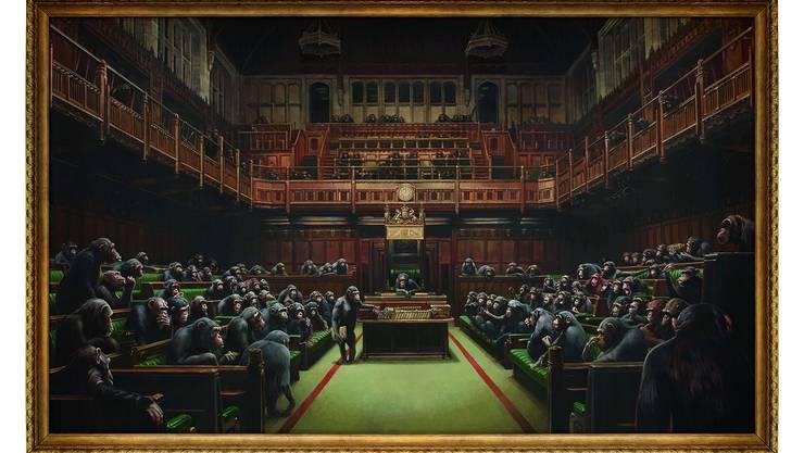Banksy: «Devolved Parliament». Wurde im Oktober für 12 Millionen Franken verkauft.