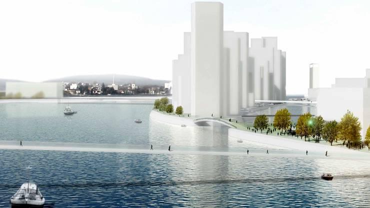 Die Idee, das Hafenareal für die Stadt zurückzugewinnen, beflügelt Fantasien.